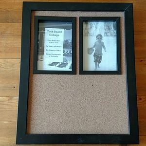 """Cork Message Board 15.5x12.5"""" Two Pictures New!"""
